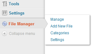 WordPress Download Manager - File Manager