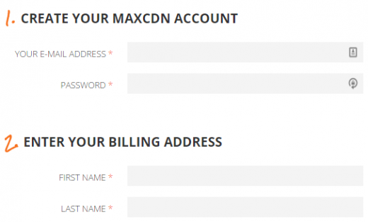 Set up your MaxCDN account