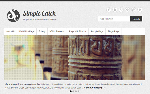 Simple Catch - Free WordPress Theme