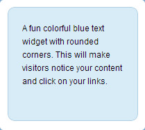colorful blue text widget