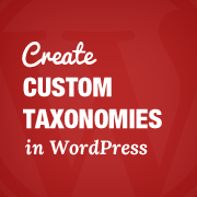 Custom Taxonomies WordPress