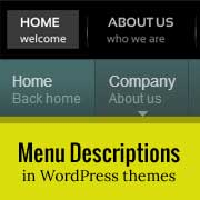How to Add Menu Descriptions in Your WordPress Themes