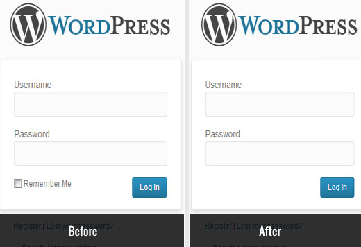 Removing remember me checkbox from WordPress login page