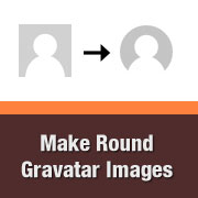 Round Gravatar Images