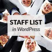 Staff List in WordPress