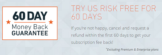 WP Engine offers a 60 day money back guarantee