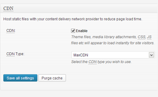 Enabling MaxCDN in W3 Total Cache