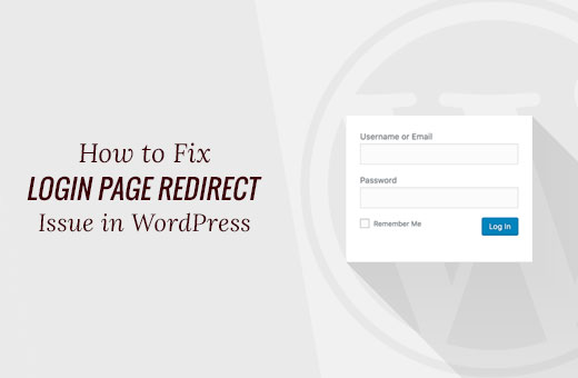 Login page redirect / refreshing error in WordPress