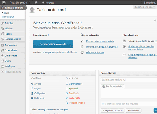 WordPress in French