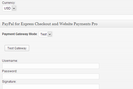 Payment settings in Premise