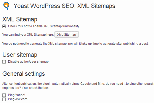Adding XML sitemaps to WordPress using WordPress SEO plugin by Yoast