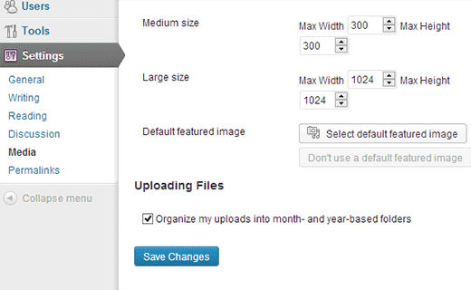 Adding a default featured image in WordPress using a plugin