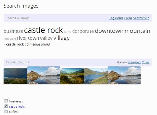 Sorting images by tagging them in WordPress