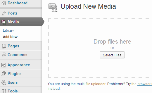Upload images to media library for later use