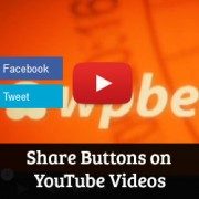 Adding Share Buttons on YouTube Videos in WordPress