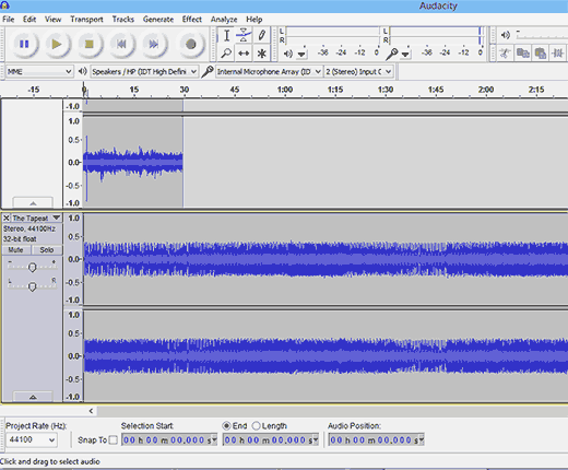 Editing your podcast audio in Audacity