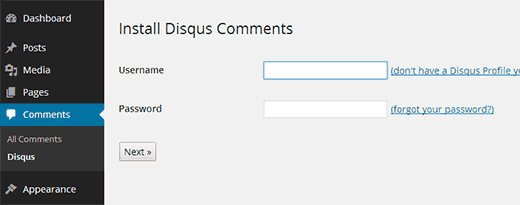 Login with your Disqus account