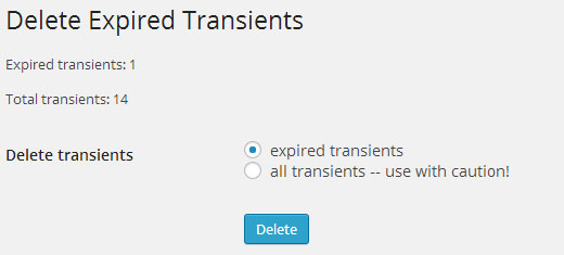 Delete Transients in WordPress