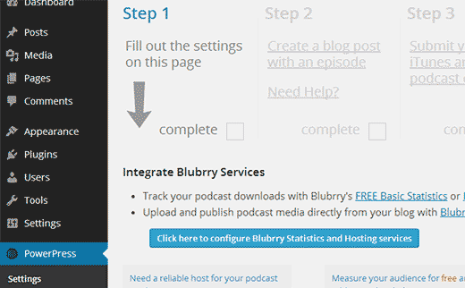 Connect to your Blubrry Hosting Account