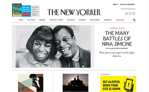 The New Yorker 40+ Notable WordPress Websites - thenewyorker