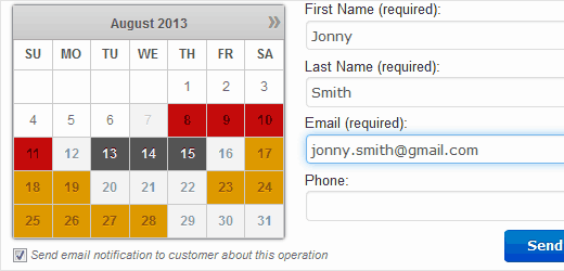 Booking Calendar plugin