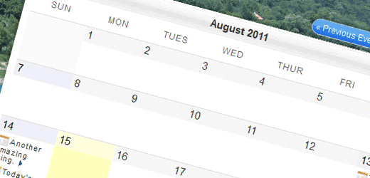My Calendar plugin for WordPress