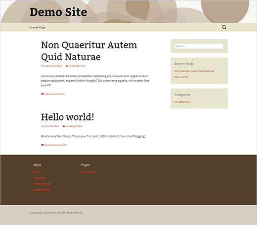 A simple WordPress child theme based on Twenty Thirteen