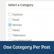 How to Enforce One Category Per Post in WordPress