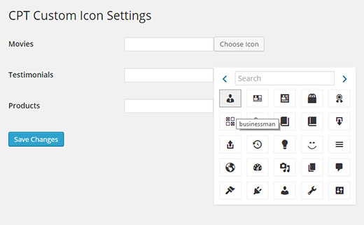 Choosing a font for your custom post type using a plugin
