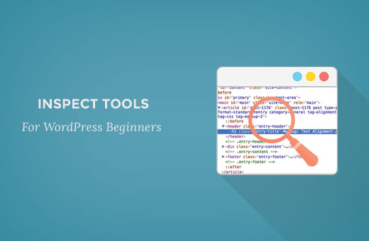 WordPress beginner's guide to using Inspect tool in Google Chrome