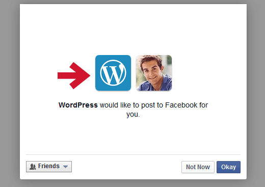 Allowing WordPress.com to post on Facebook for you
