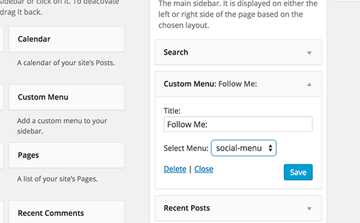 Adding social media icons to WordPress sidebar