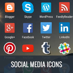 free icon sets, free social media icon set, free social media icons, free social sharing icons, open source icon sets, open source social media icons