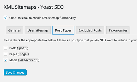 Post type and taxonomy sitemaps
