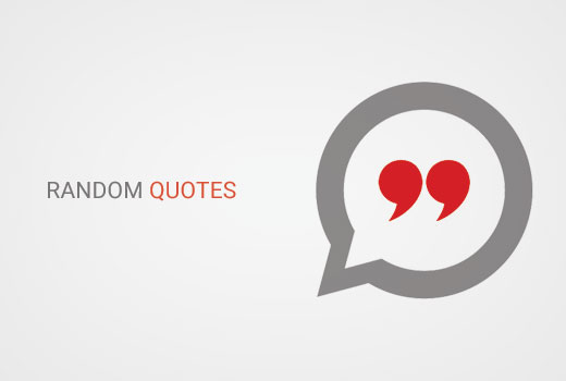Random Quotes Endearing How To Show Random Quotes In WordPress Sidebar