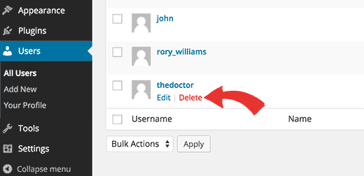Changing username in WordPress