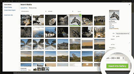 how to create photo album in wordpress