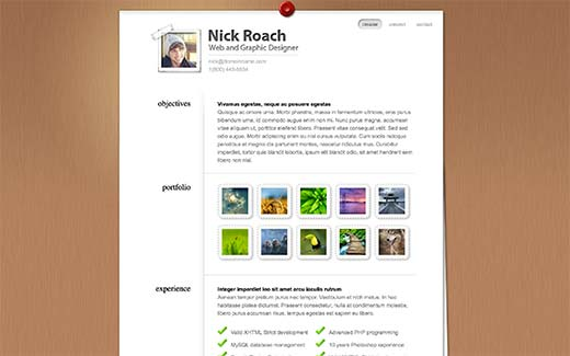 Wordpress Resume how to create an elegant resume page in wordpress Myresume Is A Wordpress Resume Theme Developed By Elegant Themes It Comes With Options To Create A Portfolio Add Biographical And Professional Information