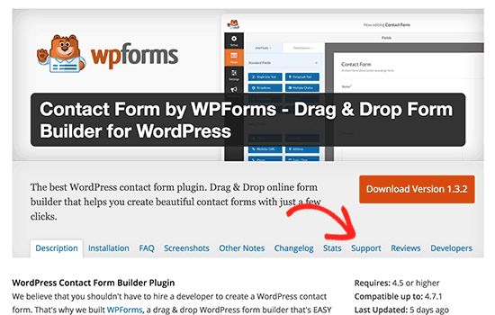 Getting support for free WordPress plugins