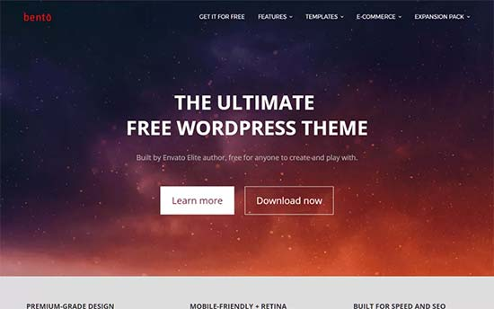 53 best free wordpress blog themes for 2018 for Wordpress theme with multiple page templates