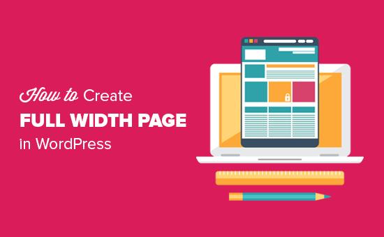 Creating a full width page in WordPress