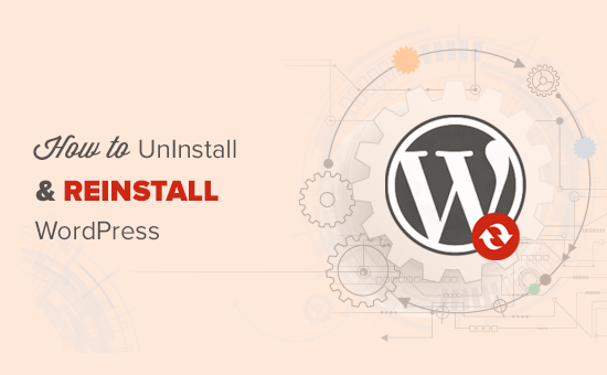 How to uninstall and reinstall WordPress