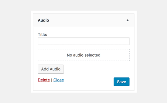 Widget de audio en WordPress 4.8