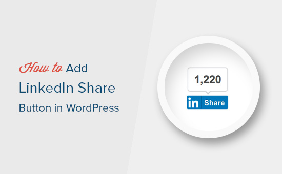 Adding LinkedIn share button in WordPress
