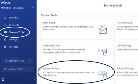 Create Bitcoin payment buttons with BitPay