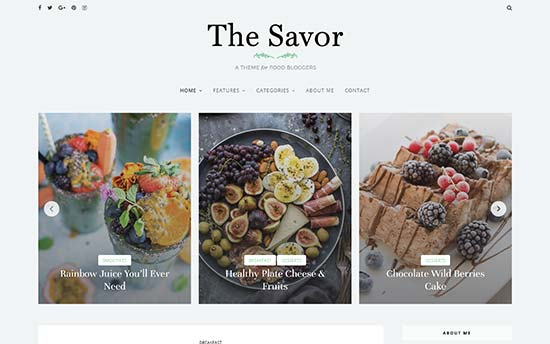 22 best wordpress themes for recipe blogs savor is a fresh and clean wordpress food theme with lots of features for recipe blogs it comes with multiple layout combinations in two and three column forumfinder Gallery