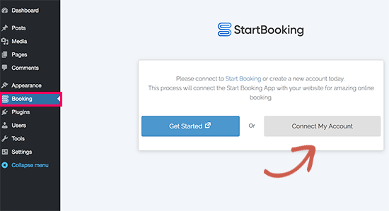 Connect StartBooking