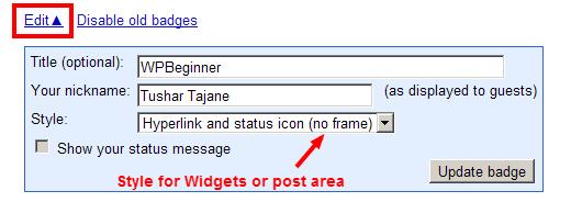 Update Your Badge Screen