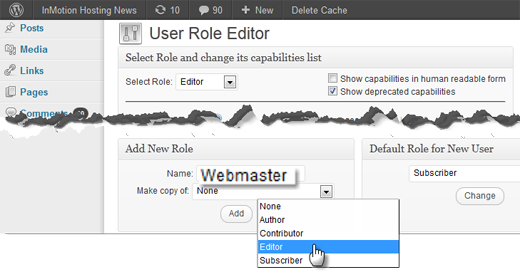 Role Manager Settings