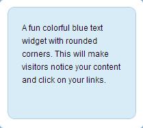 colorful blue text widget